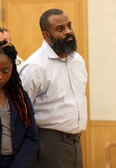 Neil White appears in court for the sentencing of murdering his 7-year-old daughter Gabrielle White at Westchester County Court in White Plains Oct. 3, 2019. White was sentenced to 25 years to life in prison.