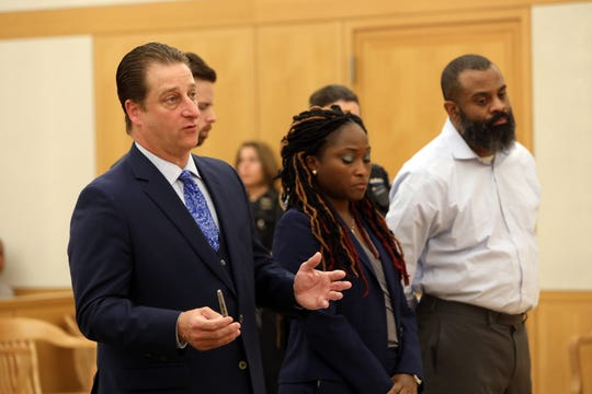 Richard Ferrante, Neil White's attorney, addresses the court at his client's sentencing in the murder of his 7-year-old daughter, Gabrielle White, at Westchester County Court in White Plains Oct. 3, 2019.
