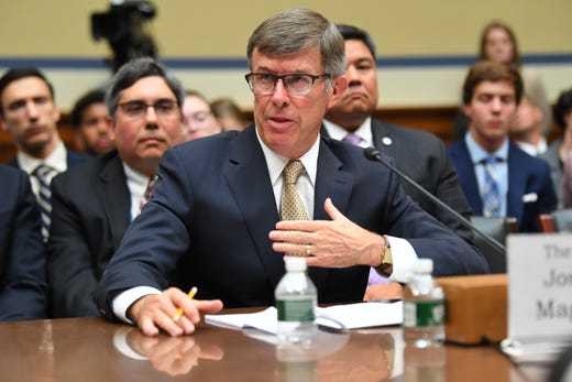 Joseph Maguire, acting Director of National Intelligence, testifies about his decision to not share a whistleblower complaint in front of the House Select Committee on Intelligence on Sept. 26, 2019 in Washington.