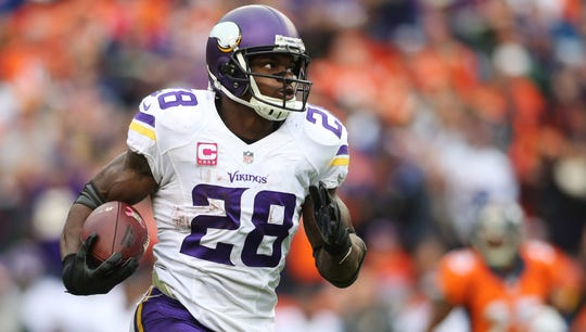 Adrian Peterson was the NFL MVP in 2012, was named a First Team All-Pro four times and has played in seven Pro Bowls.