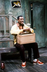 "Eddie Murphy sending up Mr. Rogers on ""SNL"" with his ""Mister Robinson's Neighborhood"" skit on May 13, 1983."