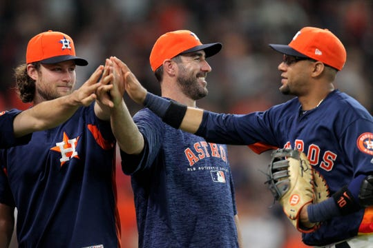 Gerrit Cole and Justin Verlander lead the vaunted Astros rotation.
