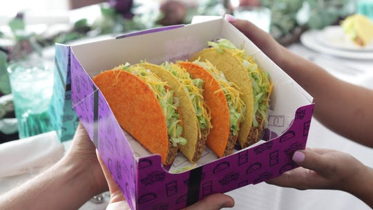 Taco Bell's National Taco Day Gift Set with four tacos for $5 is back Oct. 4.