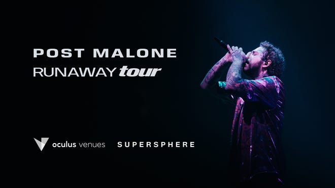 'Rockstar' rapper Post Malone's Oct. 17 concert in Raleigh, N.C., can be watched live in virtual reality using Oculus VR headsets.