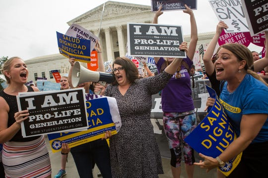Demonstrators protested outside the Supreme Court in 2016, when the justices struck down Texas restrictions on abortion clinics and providers.