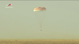 A three-man crew including an Emirati who became the first Arab to reach the International Space Station return to Earth safely in good shape.