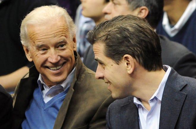 Then-Vice President Joe Biden, left, and his son Hunter Biden in Washington, D.C., in January 2010.