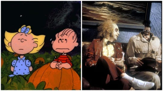 """""""It's the Great Pumpkin, Charlie Brown"""" and """"Beetlejuice"""" are among the movies available from streaming the giants this Halloween."""