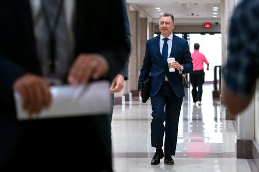 Former US Special Representative for Ukraine Kurt Volker arrives to be deposed behind closed doors amid the US House of Representatives' impeachment inquiry into President Trump, on Capitol Hill in Washington, DC, Oct. 3, 2019. Volker appears before three congressional committees to testify on a whistleblower's complaint that alleged President Trump requested help from the President of Ukraine to investigate Joe Biden