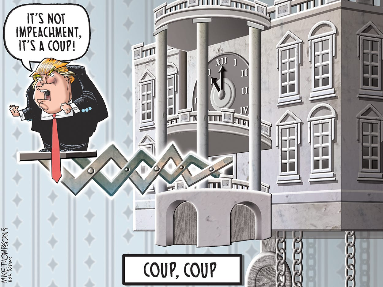 He's gone coup, coup crazy: Today's Toon