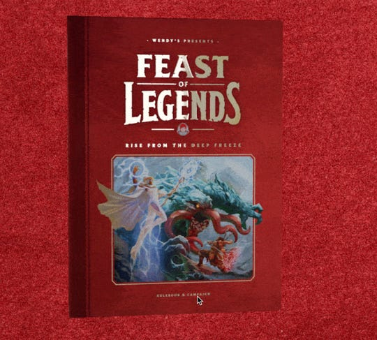 Wendy's Feast of Legends game