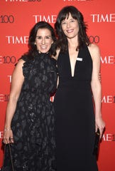 Jodi Kantor, left, and Megan Twohey at the Time 100 Gala on April 24, 2018, in New York.