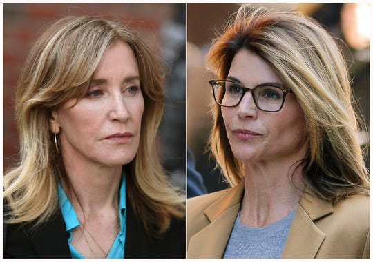 Felicity Huffman, left, and Lori Loughlin were both charged in the college admissions bribery scandal.