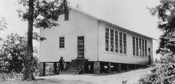 This undated photo shows the historic Mars Hill Anderson Rosenwald School located in the Long Ridge community of Madison County.