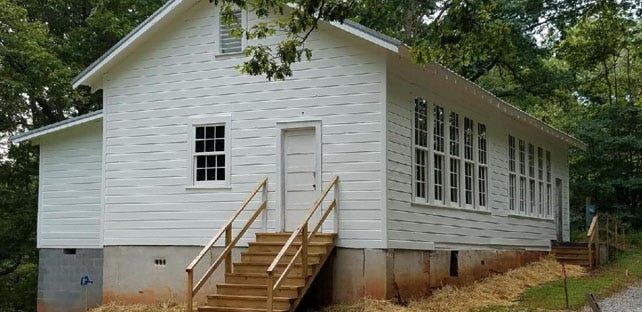 Ongoing renovations to the Mars Hill Anderson Rosenwald School saw it land on the National Register of Historic Place in 2018.