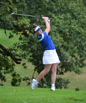 Harper Creek's Lauren Reed was match medalist as she helped the Beavers win the 2019 All-City girls golf tourney Thursday at Binder Park Golf Course.
