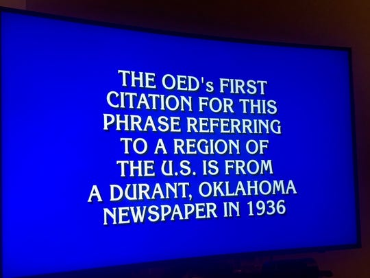 "The Final Jeopardy question on ""Jeopardy!"" Thursday, Oct. 3, 2019. The correct answer was ""what is the dust bowl?"""