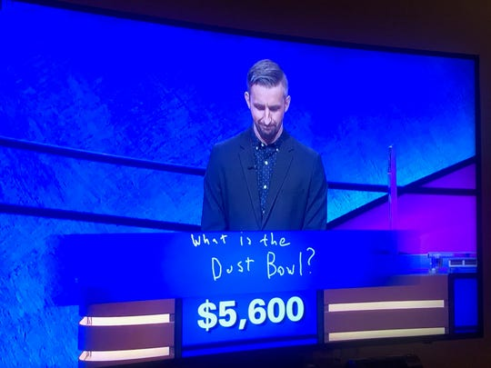 "Binghamton resident Kevin Boettcher correctly answered the Final Jeopardy question on ""Jeopardy"" on Oct. 3, 2019. He advanced to his fourth consecutive game."