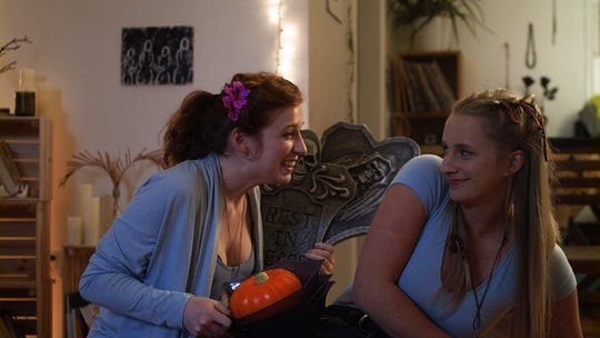 "Nicole Murray (left) and Paige Henderson in the Web series ""Dead Friends."""