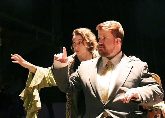 """Jennifer Hodges is Lettice and Buddy Todd is Mr. Bardolph in """"Lettice & Lovage."""""""