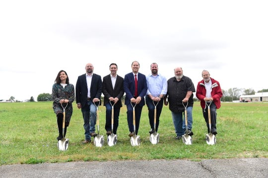 Local dignitaries broke ground on a 14-acre, 2.5-megawatt solar system that will consist of 6,885 panels.