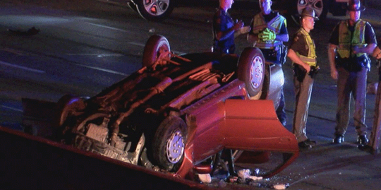 A police chase ended in a crash on NB I-71/75 in Florence early Friday, Boone County dispatchers said.