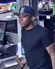 Old Bridge are seeking the public's help in identify and locating this man who allegedly has been passing counterfeit money.