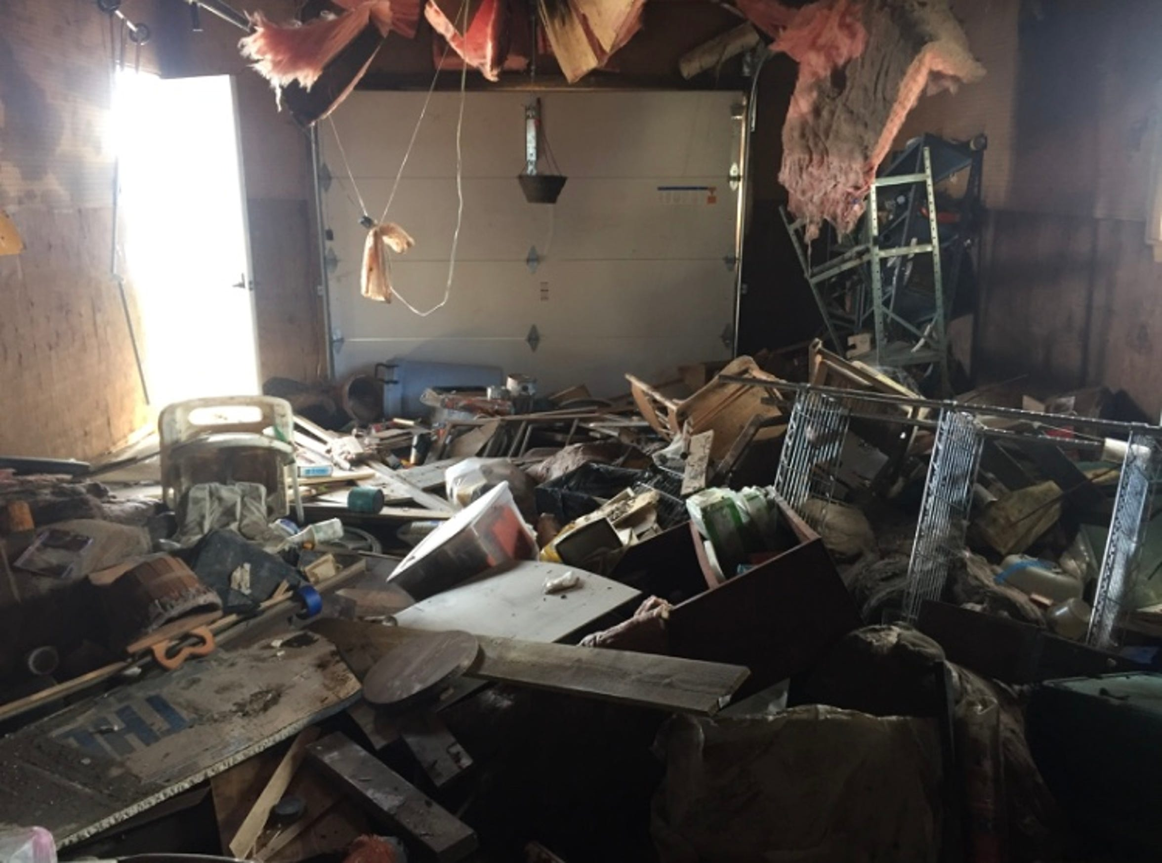 The inside of Bailey Bebout's home in McPaul on Sept. 13, the first time she had been able to get inside since flooding began in March. A short time later, it was underwater again.