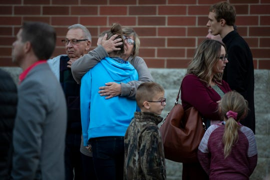 People gather for a vigil in honor of Rev. Allen Henderson at St. Paul Lutheran Church on Thursday, Oct. 3, 2019 in Fort Dodge. Henderson was the senior pastor of St. Paul Lutheran and was found unresponsive outside the church at 5:45 p.m. Wednesday.