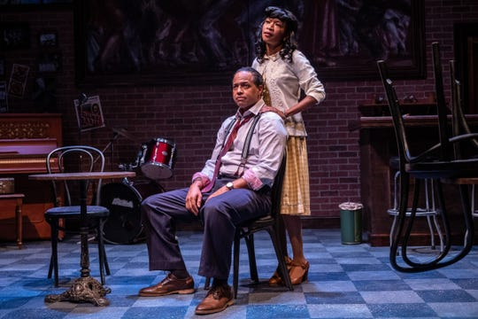 """Blue (Brian Marable) and his girlfriend, Pumpkin  (Carollette Phillips), in """"Paradise Blue,"""" a play by Detroit native Dominique Morisseau being staged at Detroit Public Theatre."""