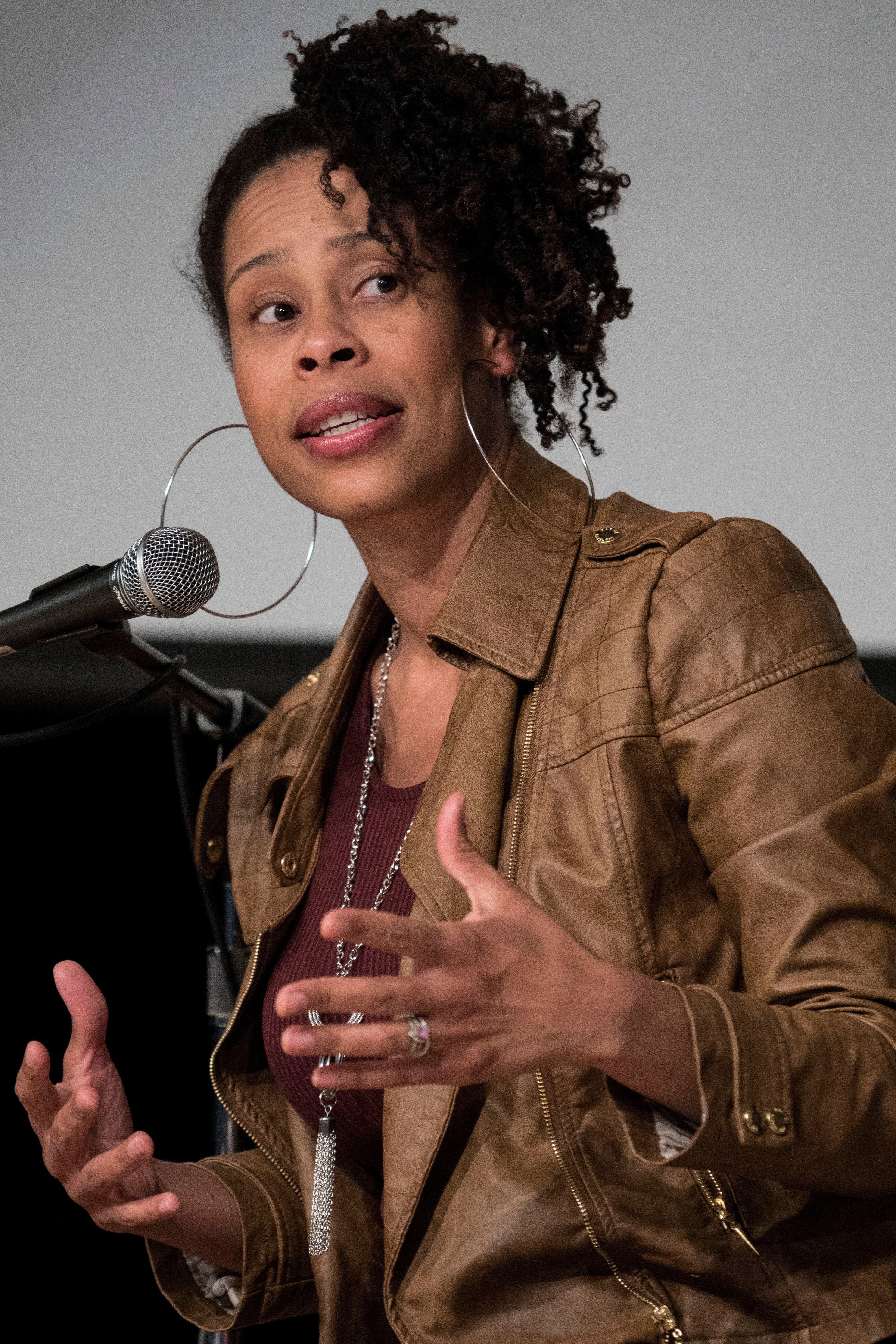 Playwright Dominique Morisseau at an event at the Charles H. Wright Museum of African American History in 2016.