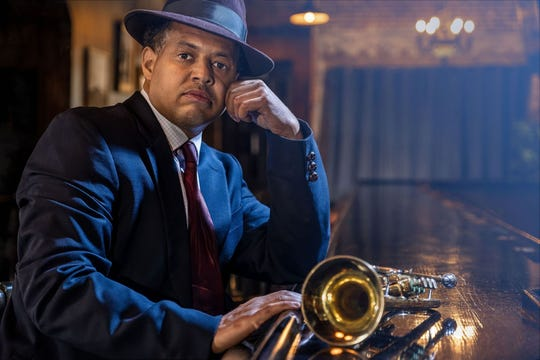 """Brian Marable plays Blue, the owner of a Paradise Valley club in late-1940s Detroit, in """"Paradise Blue,"""" a play by Detroit native Dominique Morisseau being staged at Detroit Public Theatre."""