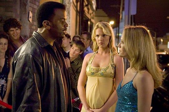 "Craig Robinson, Katherine Heigl and Leslie Mann in ""Knocked Up."""