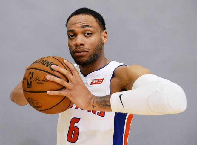Bruce Brown started 56 games as a rookie with the Pistons last season.