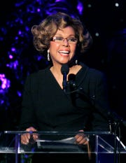 Diahann Carroll speaking at the 2007 Crystal and Lucy Awards in Beverly Hills, Calif. Carroll died, Friday, Oct. 4, 2019, at her home in Los Angeles after a long bout with cancer.  She was 84.