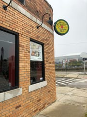 Brush Street Stadium Deli is open on Brush at the E. Fisher Service Drive.