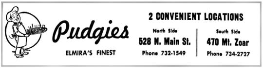 A Pudgie's ad in the Star-Gazette on March 9, 1967.