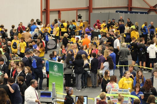 Hundreds of ninth grade students attended the fifth Sandusky County Economic Development Corporation's THINK Manufacturing Showcase Friday morning at Terra State Community College.