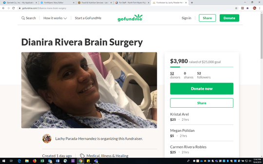 A GoFundMe fundraiser has been started for Dianira Rivera, a North Fort Myers High School teacher and tennis coach who had brain surgery this week after a sudden illness.