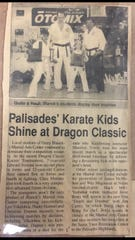 A newspaper clip from Carlos Arce's younger days in martial arts.