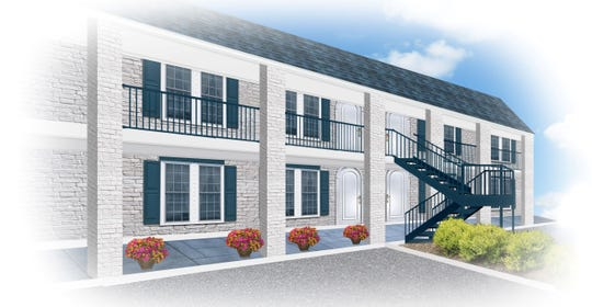 A rendering of the future Benessere apartments near the University of Southern Mississippi.