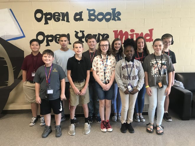 North Middle School Students of the Month for September 2019 are: Sixth grade: Ethan Fallen - Parents:  Joanie Stone William Robertson - Parents:  William & Ashley Robertson Ryan Hardrick - Parents:  Cord Hardrick & Whitney Perkins Kamryn Raley - Parents:  Robert & Kristi Raley  Seventh Grade Pierce Brown - Parents:  Jacqueline Dossett Blake Elliott - Parents:  Thomas & Shannon Elliott Joy Lewis - Parents:  Andre & Tabrielle Lewis Andi Slayton - Parents:  Amanda Willett  Eighth Grade Ty Boggess - Parents:  Shane & Miranda Boggess Clayton McHatton - Parents:  Chris & Susan McHatton Katherine Nunn - Parents:  Ryan & Laura Nunn Tess Coomes - Parents:  Ronald & Jonnie Coomes