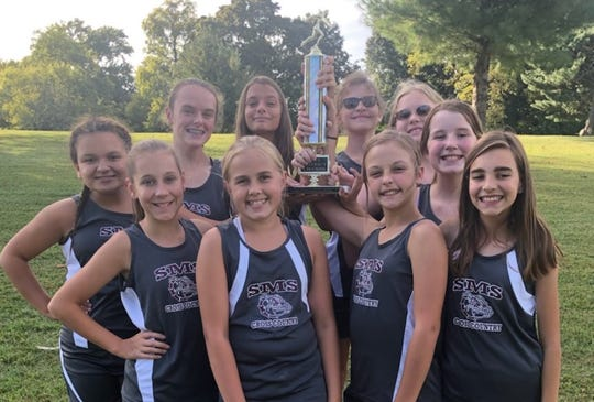 The South Middle School girls team won the Junior Colonel Cross Country championships on Sept. 24 at Municipal Golf Course.