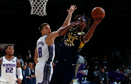 Myles Turner and the rest of the Pacers will play one more game agains the Kings in India.
