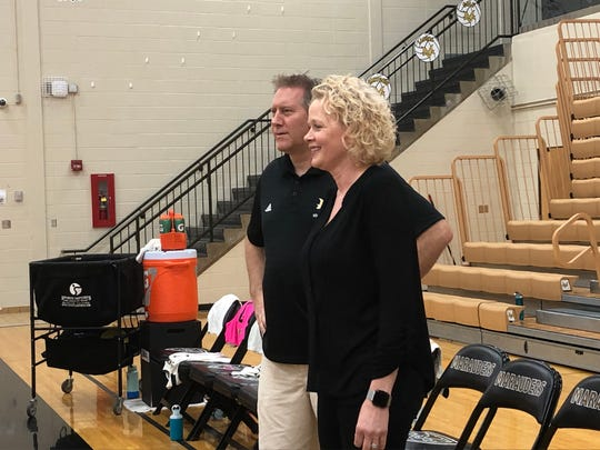 Eric and Monica Bulmahn have two daughters on the Mt. Vernon volleyball team. Victoria is a senior and Cecilia is a sophomore.