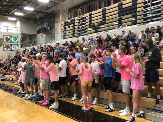 300-400 fans regularly attend Mt. Vernon volleyball matches