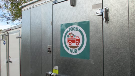 One of the new walk-in storage units Field to Family has gotten over the past year which has helped them increase the amount of local food they can provide to area organizations.