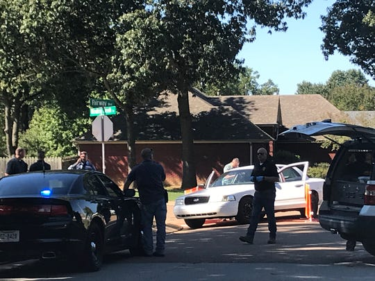 Jackson Police on the scene after apprehending a suspect in a North Jackson shooting on Oct. 4, 2019 in Jackson, Tenn.