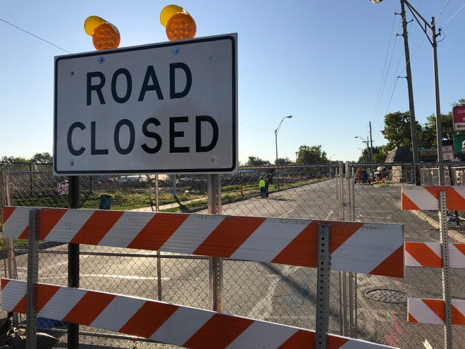 Main Street, between Kossuth and Perdue streets, is expected to be closed until the week of Thanksgiving, as crews work on sewer and utility lines feeding the reconstruction of Loeb Stadium in Lafayette's Columbian Park.