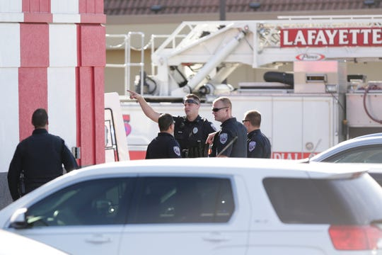 Lafayette Police work the scene of a shooting at the Kentucky Fried Chicken, 3809 State Road 26 East, Friday, Oct. 4, 2019 in Lafayette.